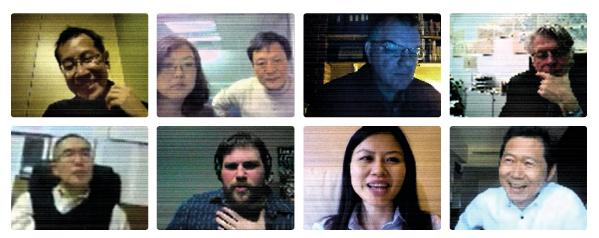 The Panelists (clockwise from top left): Jeff Hou, ASLA; Zhifang Wang; Kongjian Yu, FASLA; Ron Henderson, FASLA; Frederick R. Steiner, FASLA; Binyi Liu, Honorary ASLA; Chuo Li; Daniel Jost, ASLA; Jie Hu, International ASLA