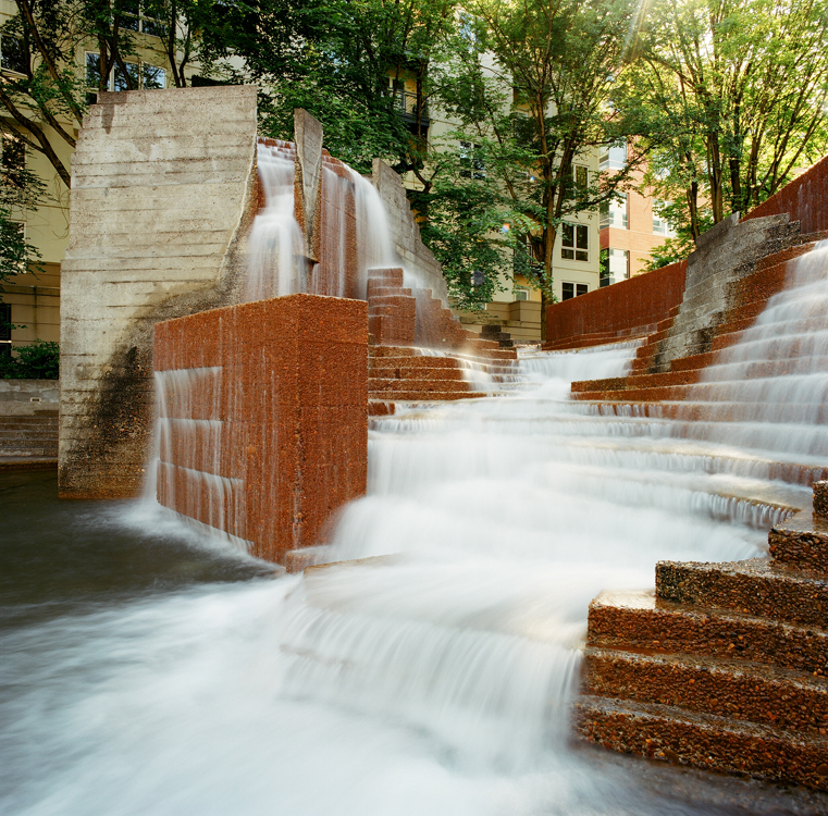 Famous fountains join register landscape architecture for Urban waterfall design