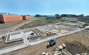Outdoor classrooms take shape at the Iowa Correctional Institute for Women.  Credit: Bob Elbert.