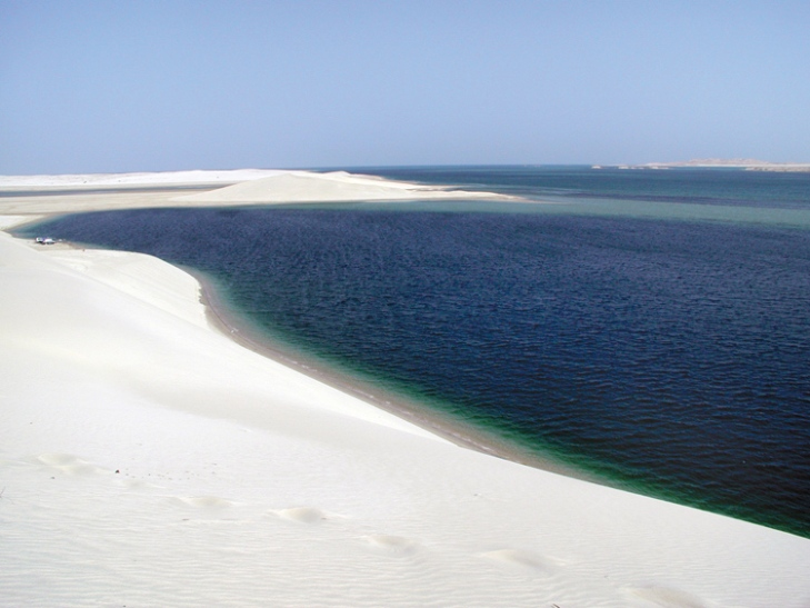 In inlet in the Persian Gulf, in Qatar's Khor Al-Adraid region. Courtesy National Park Service.