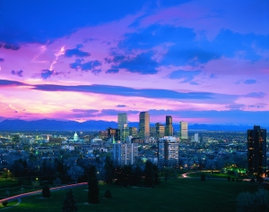The Denver skyline. Photo: Bob Ashe, courtesy of VISIT DENVER.