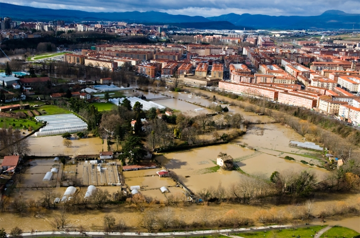 Aranzadi Park in Pamplona, Spain where Agra River is allowed to flood freely.