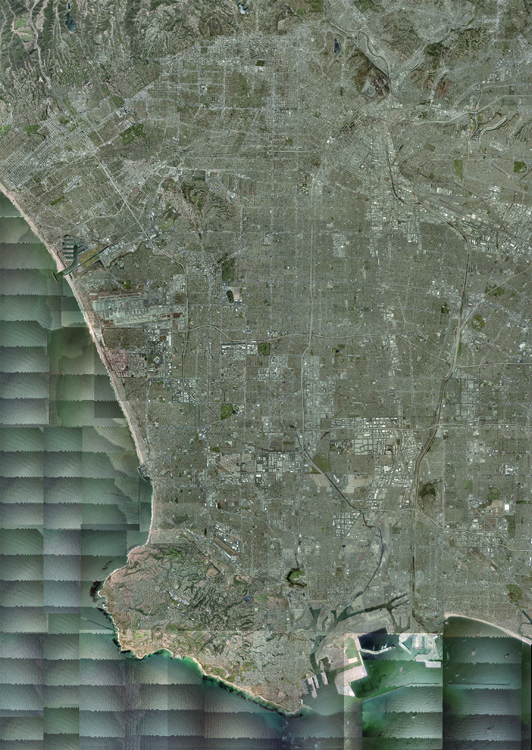 """""""Satellite Overview"""" from The Big Atlas of L.A. Pools.Benedikt Groß & Joseph K. Lee."""