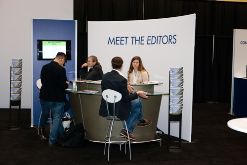 LAM STaff talk with designers at Meet the Editor in Boston.