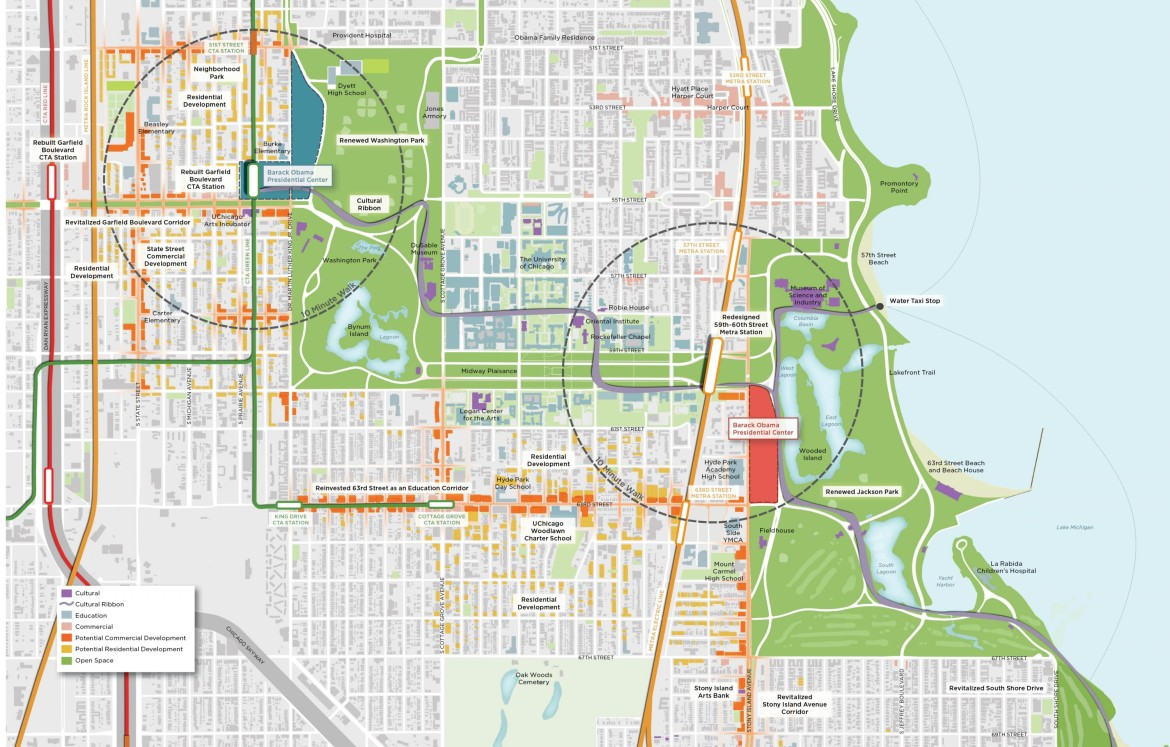 The Two University Of Chicago Proposed Sites For The Barack Obama  Presidential Library And X.