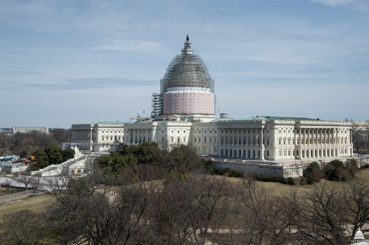 United States Capitol dome under restoration. Photo Architect of the Capitol