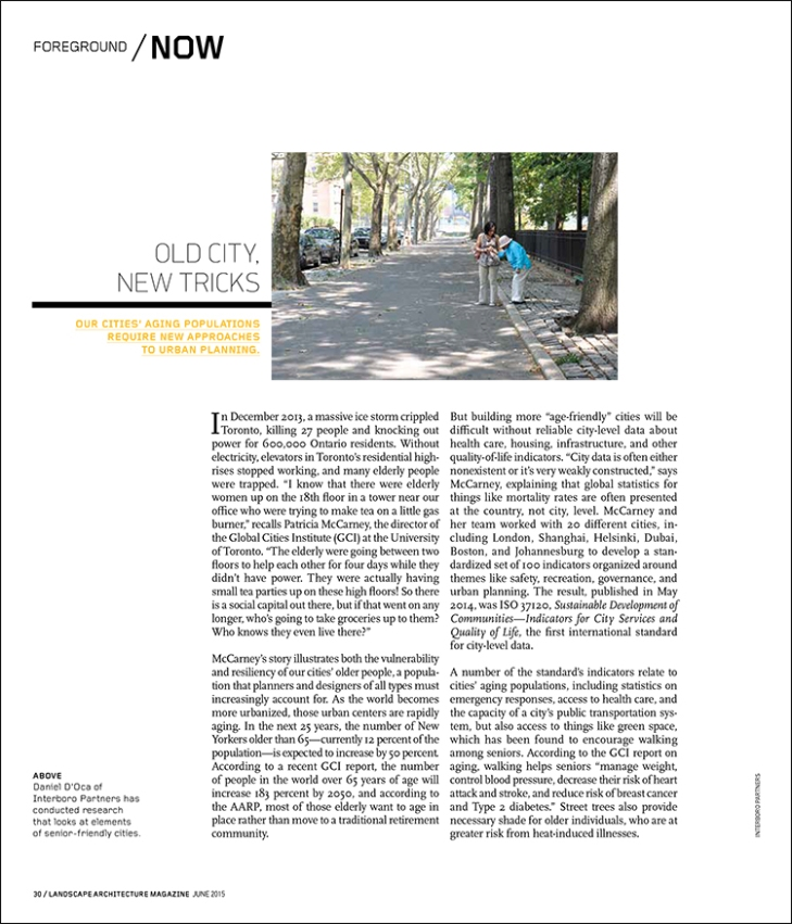 Our cities' aging populations require new approaches to urban planning.