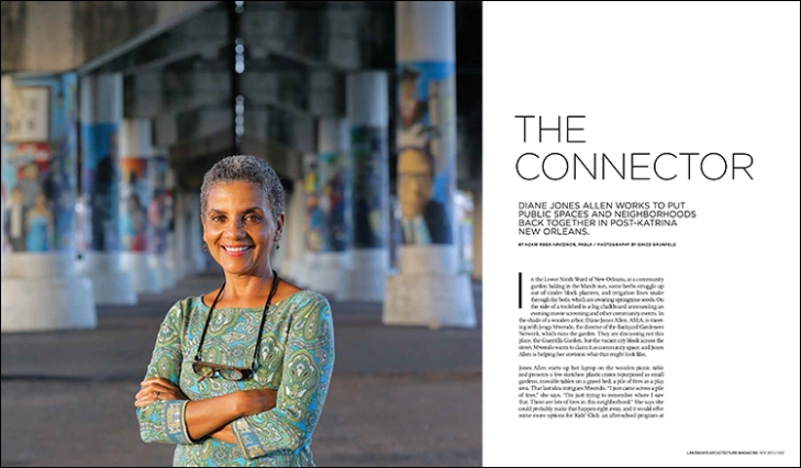 Diane Jones Allen works to put public spaces and neighborhoods back together in post-Katrina New Orleans.