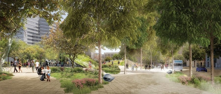 BEDIT_F1-PershingSq-Competition-wHYcivitas-V2_Entrance on corner of Olive and 5th Street