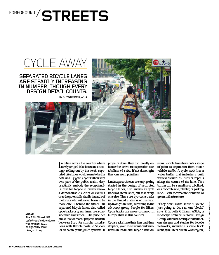 CYCLE AWAY Landscape Architecture Magazine