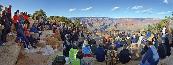 The amphitheater provides space for educational programs. National Park Service/Michael Quinn.