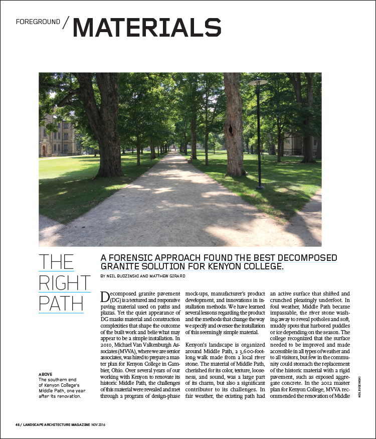THE RIGHT PATH | Landscape Architecture Magazine