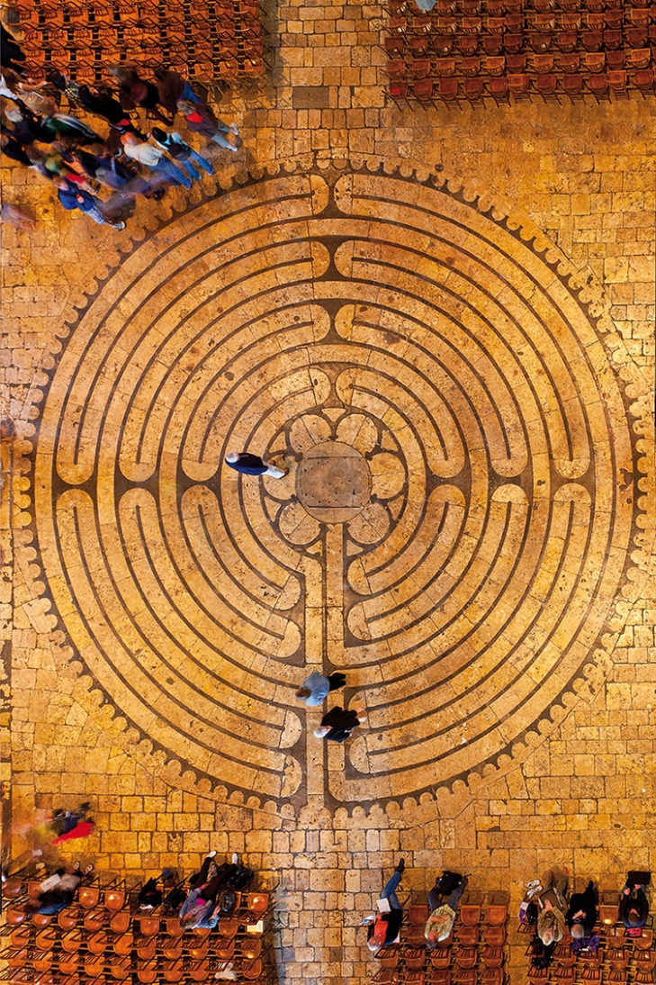 Within without labyrinths meet in nature landscape chartres cathedral labyrinth sylvain sonnet via getty images buycottarizona Image collections