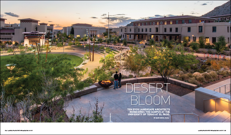FROM THE JANUARY 2017 ISSUE OF LANDSCAPE ARCHITECTURE MAGAZINE