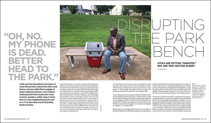 DISRUPTING THE PARK BENCH
