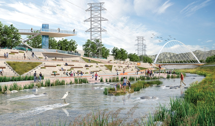 The los angeles river cut loose landscape architecture