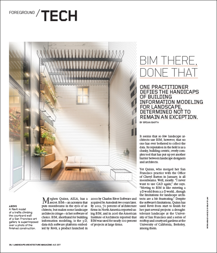 bim there done that landscape architecture magazine - Design Architecture Magazine
