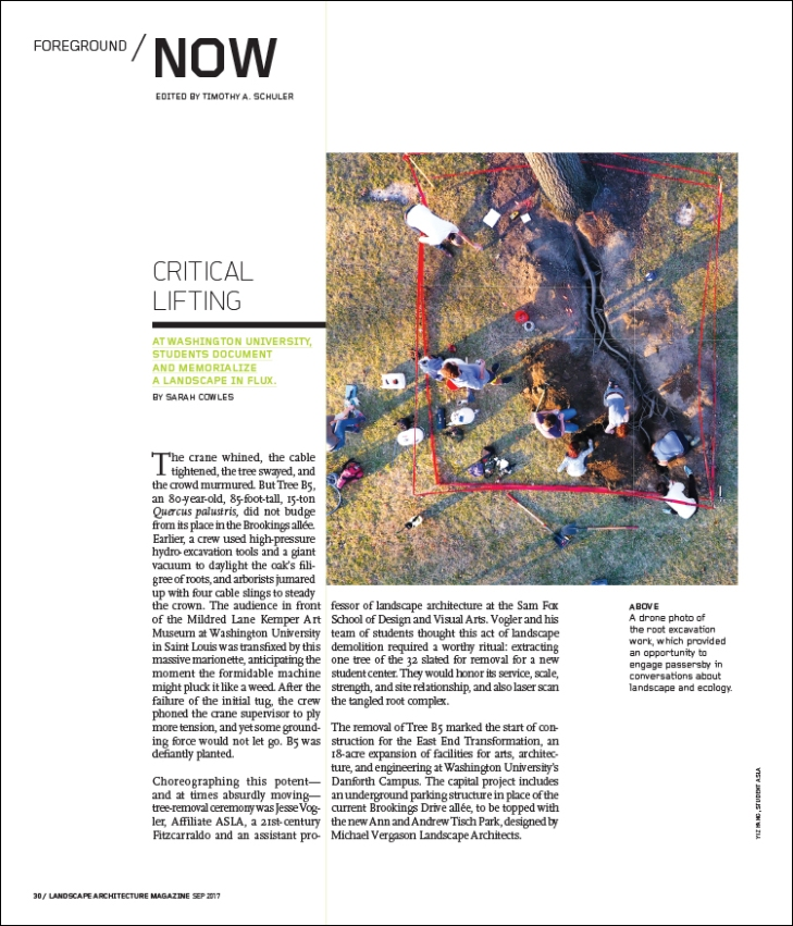 FROM THE SEPTEMBER 2017 ISSUE OF LANDSCAPE ARCHITECTURE MAGAZINE. ART   Landscape Architecture Magazine