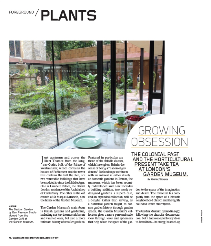 Growing obsession landscape architecture magazine for Interior design magazine articles