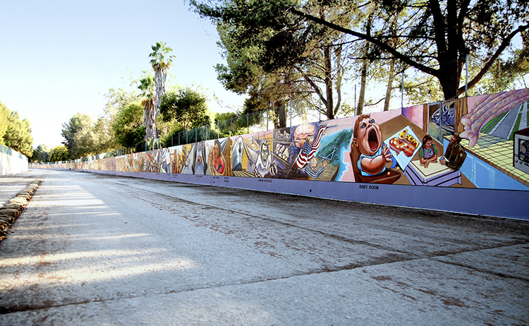 Judith F. Baca, The Great Wall Of Los Angeles, Detail With Baby Boom. Image  Courtesy Of SPARC Archive. Murals ...