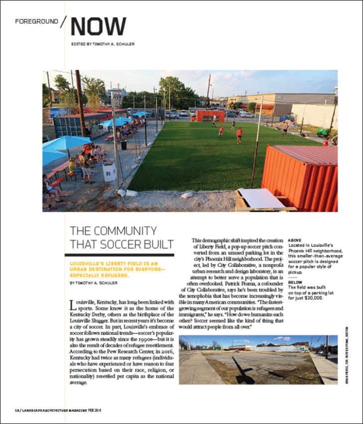 Landscape architecture magazine the magazine of the american from the february 2018 issue of landscape architecture magazine fandeluxe Images
