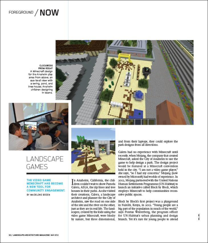 Landscape Games Landscape Architecture Magazine
