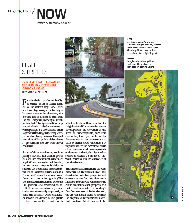 FROM THE AUGUST 2018 ISSUE OF LANDSCAPE ARCHITECTURE MAGAZINE