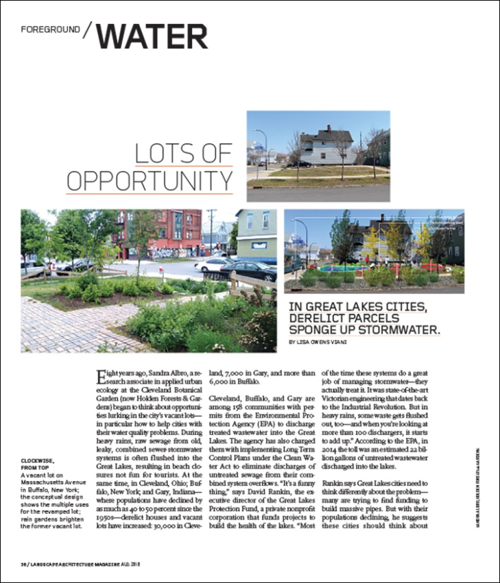water landscape architecture magazine